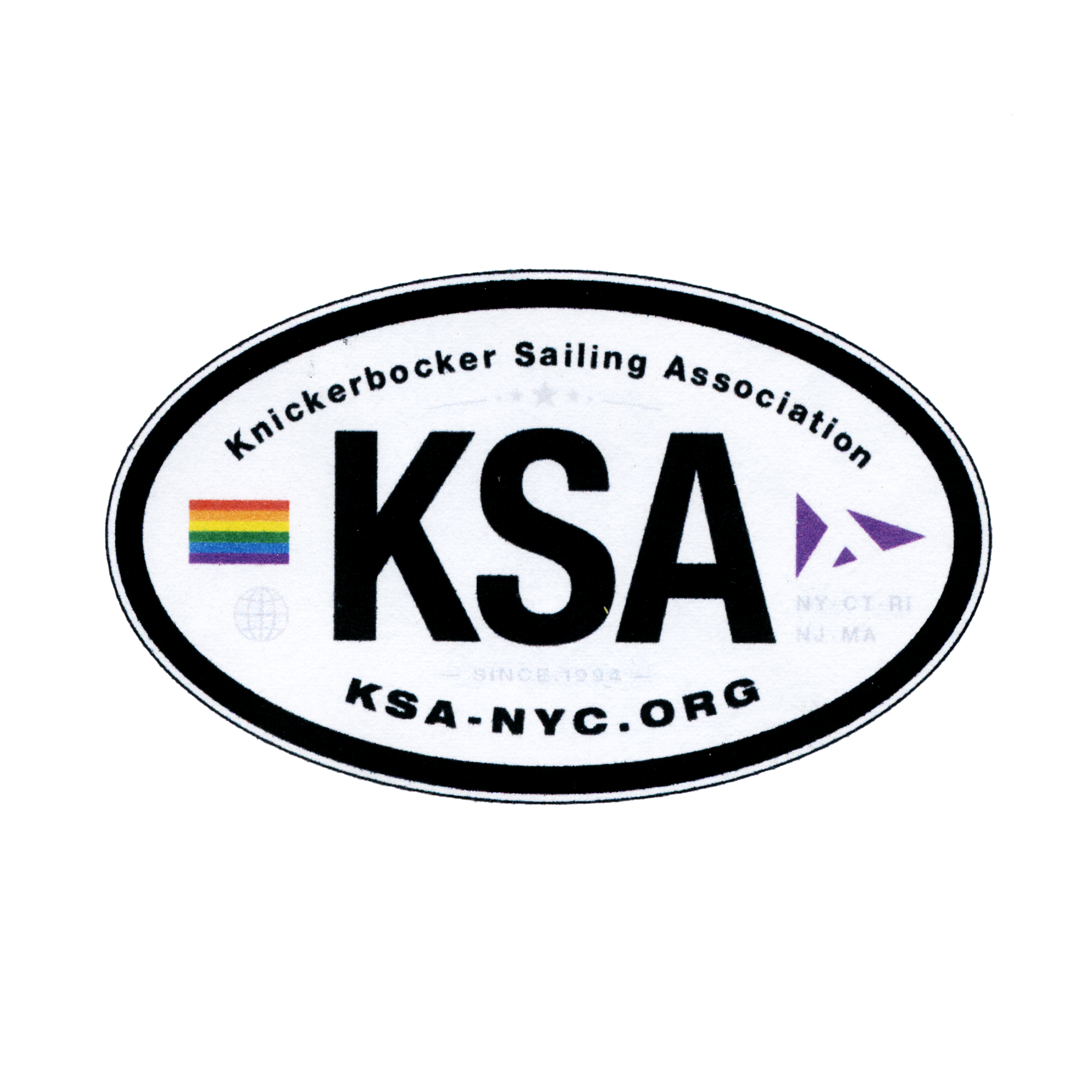 knickerbocker sailing association club sticker